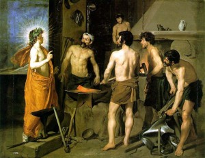 The Forge of Vulcan by Diego Velasquez, 1630 (Museo del Prado, Madrid).